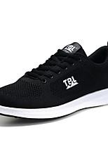 Черный Черный / синий-Для мужчин-Для прогулок Повседневный Для занятий спортом-Тюль-На плоской подошве-Удобная обувь Туфли Мери-Джейн