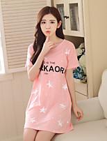 Chemises & Blouses Vêtement de nuit Femme,Push-up Couleur Pleine-Mince Coton Aux femmes