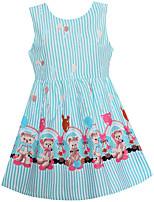 Девичий Платье На выход На каждый день Праздник Хлопок Полоски Лето Весна Без рукавов