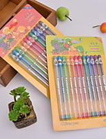 Colorful Flash Pen Fruit Flavor Flash Pen 12pcs
