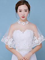 Estolas Femininas Ponchos Algodão Casamento Renda