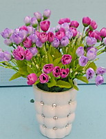 1 Une succursale Fibre Autres Fleur de Table Fleurs artificielles 10*10*30
