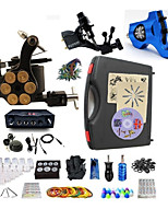 Complete Tattoo Kit 3 Machines G3Z14R7R1 Liner & Shader Dual LED Power Supply