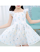Girl's Casual/Daily Solid Dress,Polyester Summer Sleeveless