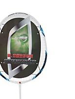Badmintonschläger Hochfest Dauerhaft Stabilität Kohlefaser Ein Paar × 2 für Draußen Leistung Training Legere Sport