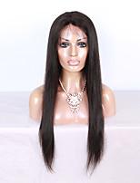 130% de densité soyeuse droite 100% virginique perruque pleine cheveux en laine pour femmes noires avec cheveux bébé