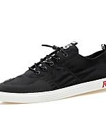 Белый Черный Серый Красный-Для мужчин-Для прогулок Повседневный Для занятий спортом-Дерматин-На плоской подошве-Удобная обувь-Кеды