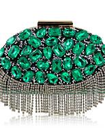 L.WEST Woman Fashion Diamonds Tassel Evening Bag