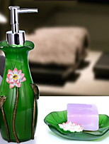 Lotus Leaf Bathroom Accessory Set Resin /Country