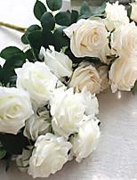 10 Heads/Bouquet European Style Hemming Rose Home Decoration Wedding Celebration Artificial Flower