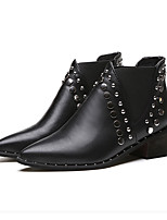 Women's Boots Spring Summer Comfort PU Dress Casual Low Heel Rivet