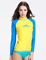 Sports Women's Wetsuit Top Quick Dry Sunscreen Neoprene Diving Suit Long Sleeve Tops-Diving Spring Summer Fashion