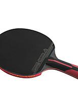 6 étoiles Ping Pang/Tennis de table Raquettes Ping Pang Fibre de carbone Long Manche Boutons 1 Raquette 1 Sac de Tennis de TableExtérieur