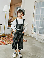 Girls' Casual/Daily Striped Overall & Jumpsuit-Polyester Summer