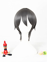 Gris court l'animation uduki arata synthétique 12inch perruque cosplay anime cs-297c