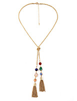 Women's Pendant Necklaces Crystal Jewelry Chrome Tassels Euramerican Personalized Jewelry For Wedding Congratulations 1pc