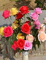 1 Ramo Plástico Rosas Flor de Chão Flores artificiais 35*35*82
