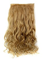 Clip In Hair Extensions Hairpiece 23inch 58cm 110g Curly Wavy Hair Extension Synthetic Heat Resistant D1010 27#