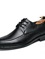 -Для мужчин-Свадьба Повседневный Для вечеринки / ужина-Дерматин-На плоской подошве-Баллок обувь-Туфли на шнуровке