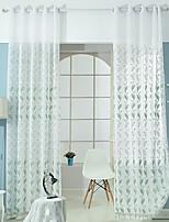 Jeden panel Window Léčba Neoklasika Středomořský Rococo Evropský Obývací pokoj Polyester Materiál Sheer Záclony Shades Home dekorace For