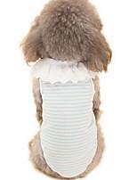Hunde Kleider Hundekleidung Sommer Karton Niedlich Modisch Lässig/Alltäglich Blau Rosa Leicht Grün