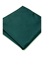 YH28 Mens Handkerchief Green Solid 100% Silk Business Casual Jacquard New For Men