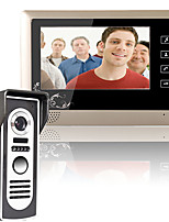 MOUNTAINONE 7 Inch Video Door Phone Doorbell Intercom System  Kit 1-Camera 1-Monitor Night Vision