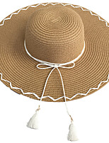 Femme Décontracté Paillette Chapeau de soleil,Couleur Pleine Eté