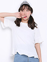 Sign 2017 summer season new women loose big yards sweet flounced chiffon blouse