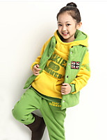 Unisex Casual/Daily Patchwork Sets,Cotton Winter Long Sleeve Clothing Set