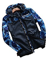 Men's Jacket Tops Waterproof Breathable Windproof Spring White Green Sapphire Blue