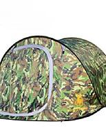 3-4 personnes Double Une pièce Tente de campingRandonnée Camping Voyage-Camouflage