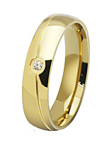 Fashion AAA CZ Wedding Rings For Women Men Stainless Steel Classical Couple Ring For Lover