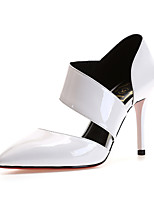 Sandals Spring Summer Fall Club Shoes Cowhide Office & Career Party & Evening Dress Stiletto Heel Black Red White