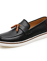 Men's Loafers & Slip-Ons Spring Summer Moccasin PU Outdoor Office & Career Casual Flat Heel White Black Brown Blue