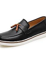 גברים-נעלי אוקספורד-PU-מוקסין-לבן שחור חום כחול-שטח משרד ועבודה יומיומי-עקב שטוח