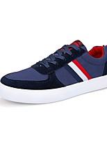 Черный Серый Синий-Для мужчин-Для прогулок Повседневный-Полотно-На плоской подошве-Удобная обувь-Кеды
