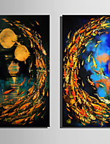 E-HOME Stretched Canvas Art The Night Fish Decoration Painting One Pcs
