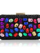L.WEST Woman Fashion Diamonds Colorful Evening Bag