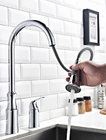 Pull-out/Pull-down Kitchen Faucet Standard Spout Widespread Thermostatic Rain Shower Pullout Spray Kitchen Sink Faucet
