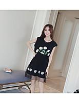 # 2016 summer new long section chiffon dress fake two-piece casual female gauze Zhitong Qun