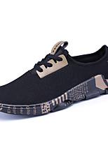 Золотой Черно-белый-Для мужчин-Для офиса Повседневный Для занятий спортом-Тюль-На плоской подошве-Удобная обувь-Кеды