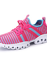 Women's Sneakers Spring Summer Comfort Tulle Outdoor Athletic Casual Flat Heel Lace-up Running