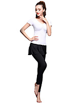 Shall We Latin Dance Outfits Women Training Spandex / Milk Fiber / Pleated 2 Pieces Dance Costume