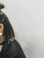 Серьги-слезки Мода Сплав В форме звезды Белый Бижутерия Для Повседневные 1 пара