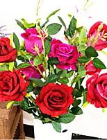 1 Филиал Волокно Розы Другое Букеты на стол Искусственные Цветы 30*30*100