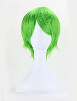 Perruques synthétiques cosplay européennes de couleur verte