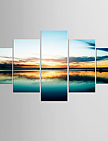 Giclee Print Landscape Modern Mediterranean,Five Panels Canvas Any Shape Print Wall Decor For Home Decoration