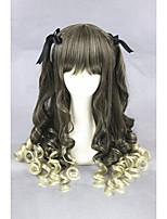 perruque milieu de couleur à ondes longues filles mixte synthétique 24inch anime lolita cs-281a