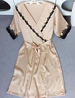 Jarretelles & Bretelles Vêtement de nuit Femme,Imprimé Fleur-Moyen Polyester Aux femmes